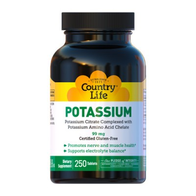 Pottasium Калий 99мг таблетки №250 ТМ Кантри Лайф / Country Life