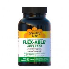 Комплекс для суглобів 3в1 Flex-Able Advanced 90 капсул ТМ Кантрі Лайф / Country Life
