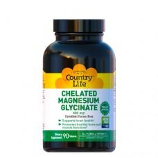 Магний Хелатный Глицинат (Magnesium Glycinate) 400 мг 90 таблеток ТМ Кантри Лайф / Country Life