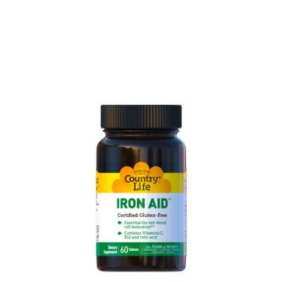 Помощь железа (Iron Aid) 15 мг 60 таблеток ТМ Кантри Лайф / Country Life