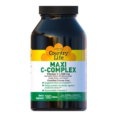 Витамины Maxi-C Complex 1000 мг Кантри Лайф / Country Life 180 таблеток