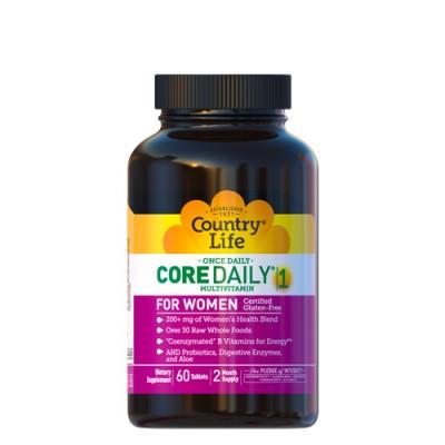 Мультивитамины для женщин Кор Дейли - 1 60 таблеток  ТМ Кантри Лайф / Country Life