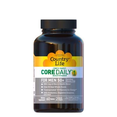 Мультивитамины для мужчин 50+ Кор Дейли-1, 60 таблеток ТМ Кантри Лайф / Country Life