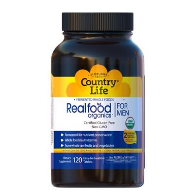 Био-добавка Real food organics для мужчин 120 таблеток ТМ Кантри Лайф / Country Life