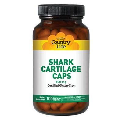 Shark Cartilage (Акулячий хрящ) 800 мг 100 капсул ТМ Кантрі Лайф / Country Life