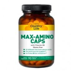 Витамины Макс Амино с витамином В6 90 капсул ТМ Кантри Лайф / Country Life