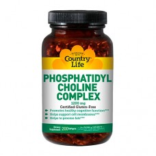Country Life  Фосфатидилхолин, Phosphatidyl Choline, Country Life, комплекс, 1200 мг