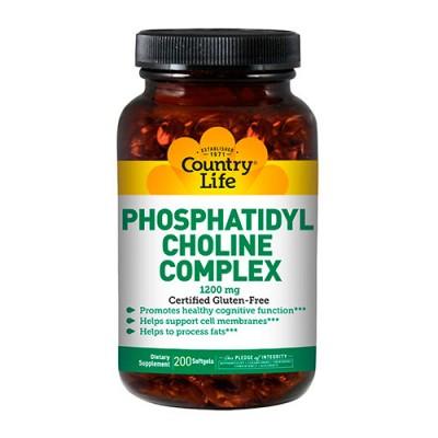 Комплекс фосфатидилхолина (Phosphatidyl Choline) 1200 мг 200 капсул ТМ Кантри Лайф / Country Life