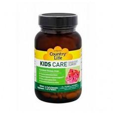 Витамины для детей KIDS CARE для пищеварения таблетки №120 ТМ Кантри Лайф / Country Life