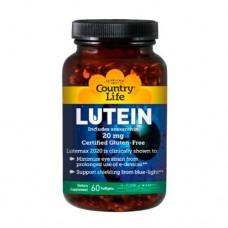 Био-добавка Лютеин 20 мг 60 капсул ТМ Кантри Лайф / Country Life