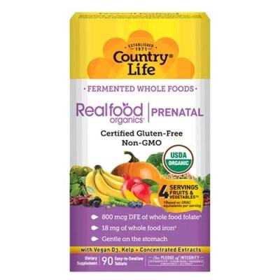Витаминно-минеральный комплекс Real food organics Prenatal 90 таблеток ТМ Кантри Лайф / Country Life