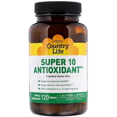 Супер 10 антиоксидант 120 таблеток ТМ Кантри Лайф / Country Life