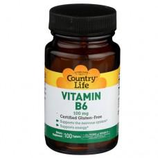 Country Life Витамин В-6 100 мг 100 таблеток