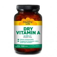 Country Life Витамин А 10 000 МО 100 таблеток
