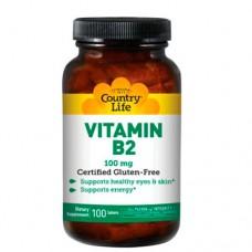 Country Life Витамин В-2 100 мг 100 таблеток