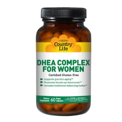 DHEA комплекс для женщин 60 капсул ТМ Кантри Лайф / Country Life