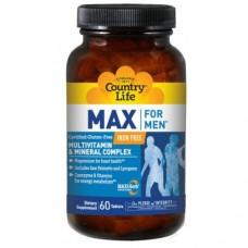 Витаминно-минеральный комплекс Max For Men таблетки №60 ТМ Кантри Лайф / Country Life