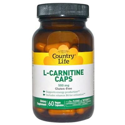 L-карнитин 500 мг 60 капсул ТМ Кантри Лайф / Country Life