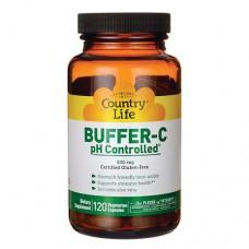 Буфер витамин С с контролем рН 120 капсул ТМ Кантри Лайф / Country Life