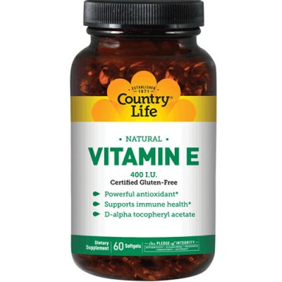 Витамины Natural Vitamin E капсулы №60 ТМ Кантри Лайф / Country Life