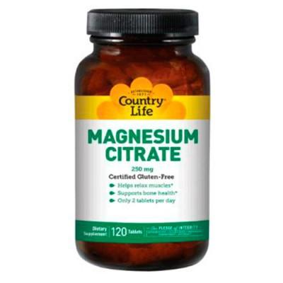 Цитрат магния 250 мг таблетки №120 ТМ Кантри Лайф / Country Life