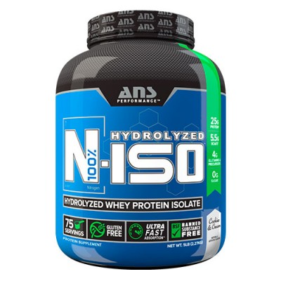 ANS изолят сывороточного протеина N-ISO 100% Hydrolyzed печенье и крем 2,27 кг