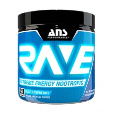 Передтренувальний комплекс ANS Performance Rave Extreme Energy Nootropic US блакитна малина 210 г