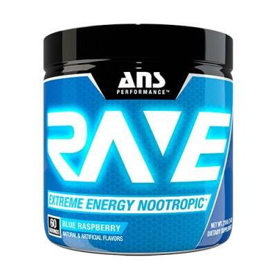 ANS предтренировочный комплекс Rave Extreme Energy Nootropic US голубая малина 210 г