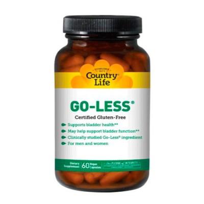 Поддержка мочевого пузыря Go Less 60 капсул ТМ Кантри Лайф / Country Life