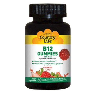 Vitamin B12 (Витамин В12) 60 жевательных конфет ТМ Кантри Лайф / Country Life