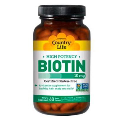 Биотин 10 мг капсулы №60 ТМ Кантри Лайф / Country Life