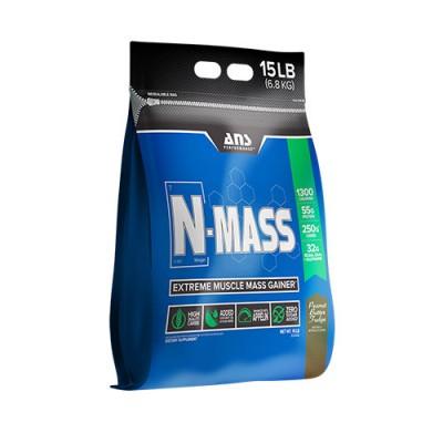 ANS гейнер N-MASS US фадж с арахисового масла 6,8 кг