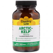 Норвежская ламинария Arctic Kelp 225 мкг 300 таблеток ТМ Кантри Лайф / Country Life