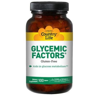 Гликемические факторы 100 таблеток ТМ Кантри Лайф / Country Life