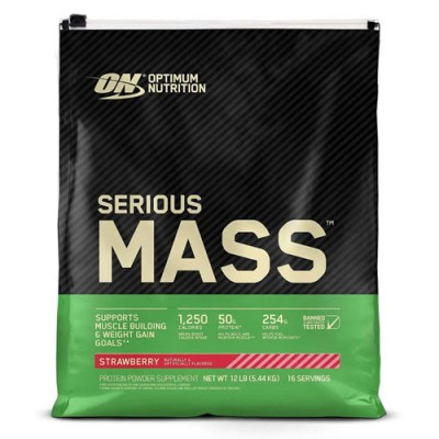 Гейнер Optimum Nutrition Serious Mass 5,443 кг - Клубника