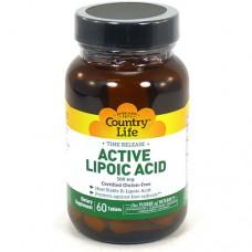 Липоевая кислота 300 мг 60 таблеток ТМ Кантри Лайф / Country Life