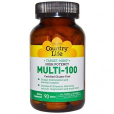 Витамины Multi-100 таблетки №90 ТМ Кантри Лайф / Country Life