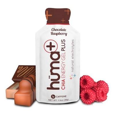 Гель энергетический Plus Chocolate & Raspberry с электролитами и кофеином ТМ Huma 36 г