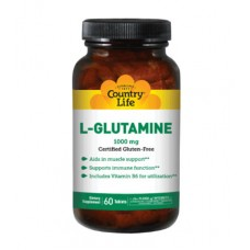 L-глютамин 1000 мг 60 таблеток ТМ Кантри Лайф / Country Life
