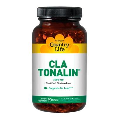 CLA тоналин 1000 мг 90 мягких капсул ТМ Кантри Лайф / Country Life