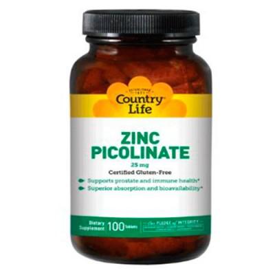 Пиколинат цинка таблетки 25 мг №100 ТМ Кантри Лайф / Country Life