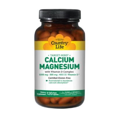 Кальций-Магний витамин D3 120 капсул ТМ Кантри Лайф / Country Life