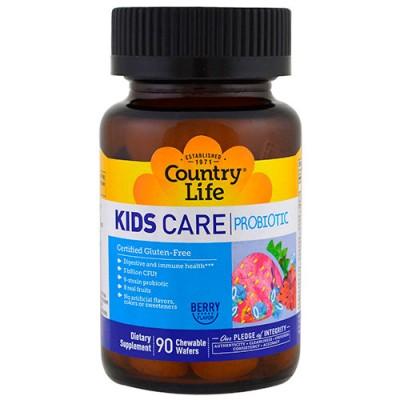 Пробиотик Kids Care 90 жевательных таблеток ТМ Кантри Лайф / Country Life