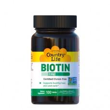 Биотин 1000 мкг 100 таблеток ТМ Кантри Лайф / Country Life