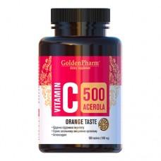 Витамин С с Ацеролой апельсин таблетки 500мг №100