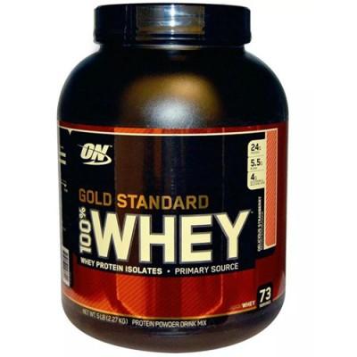 Optimum Nutrition Сывороточный протеин 100% WHEY Gold Standard вкусная клубника 2,27кг