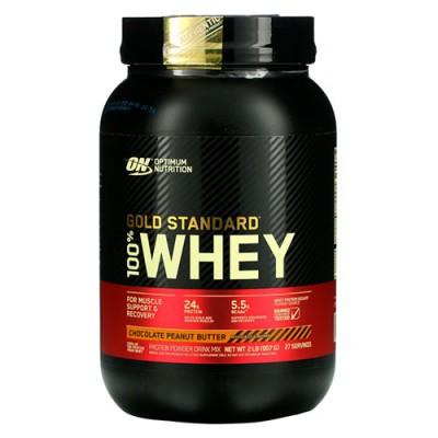 Сывороточный протеин Optimum Nutrition 100% Whey Gold Standard Chocolate peanut butter 907 г