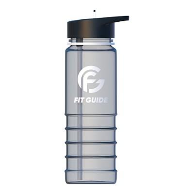 Фляга пластиковая прозрачная 800 мл Fit guide