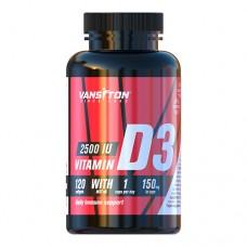 Витамин Д3 2500 МЕ 120 желатиновых капсул ТМ Ванситон / Vansiton