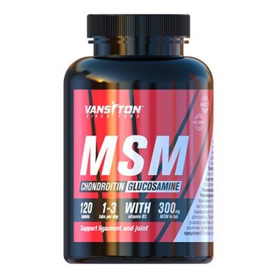 Хондроитин + Глюкозамин + MSM таблетки №120 ТМ Ванситон / Vansiton